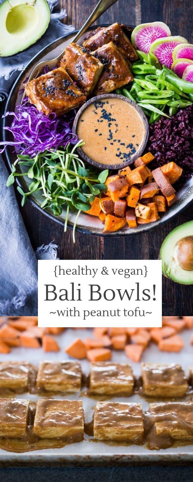 Bali Bowls with Peanut Tofu