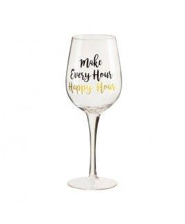 Every Hour Happy Hour Wine Glass