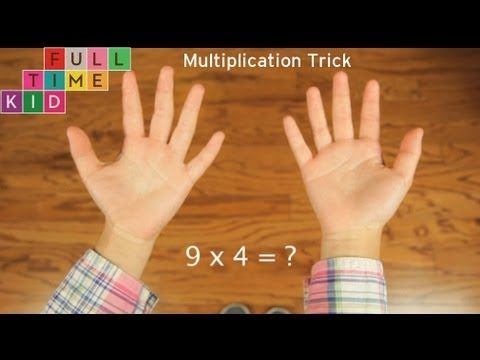 Help kids learn their nine times tables with this handy multiplication trick from #FullTimeKid.