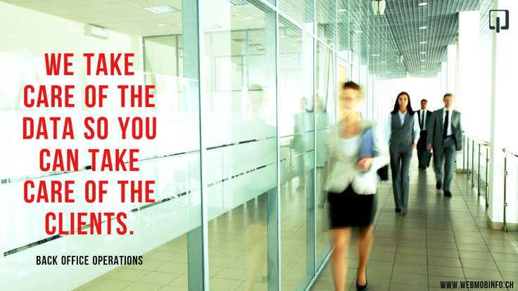 Back Office Operations: We take care of the data so you can take care of the clients.: http://goo.gl/KSWheJ