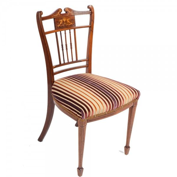 A lovely antique Victorian occasional chair re-covered by The Unique Seat  Company, Sheffield in a luxurious striped velvet fabric from Zoffany. - 17 Best Images About Antique Occasional Chairs On Pinterest