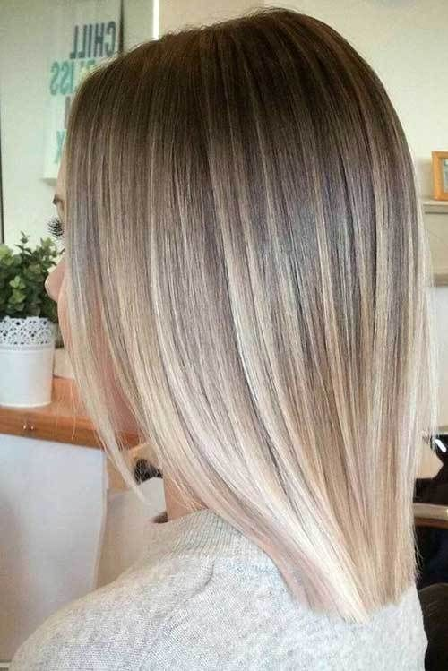 15 Must-See Straight Hairstyles for Short Hair: #3. Ombre Blonde Hair #hairdosfo…