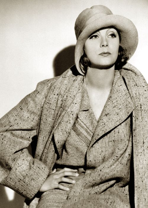 Greta Garbo, 1930s ~ Amazing how a woman can dress like a man, with little makeup, and still be a beautiful sexy woman ~ NMB ~