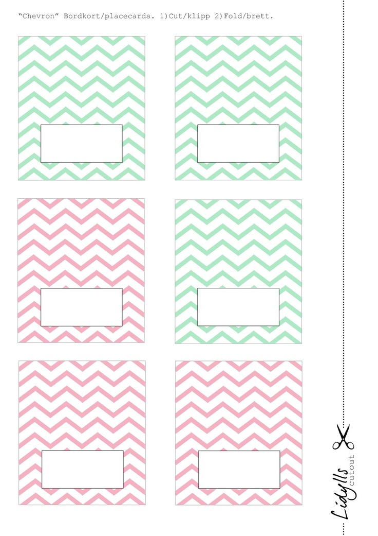 Lidyll: Lidylliske bordkort med chevronmønster til DERE!!