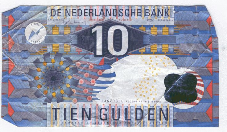 I found this note by accident. It was in a book. I prefer the Euro design but the Dutch Gulden (Florijn) looked better than American money.