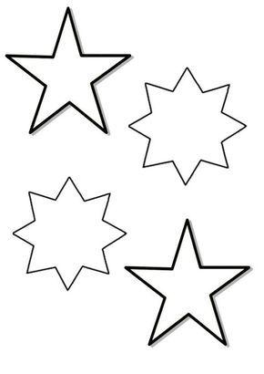 Estrellas de Navidad para colorear | Christmas