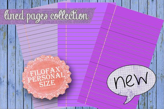 Purple lined pages Planner printable purple planner pages