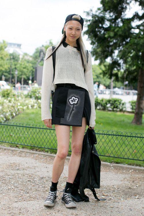 koreanmodel:  Streetstyle: Soo Joo in Paris