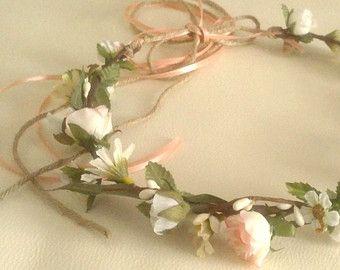 Blu fiordaliso fiore corona pervinca damigelle sposa di AmoreBride
