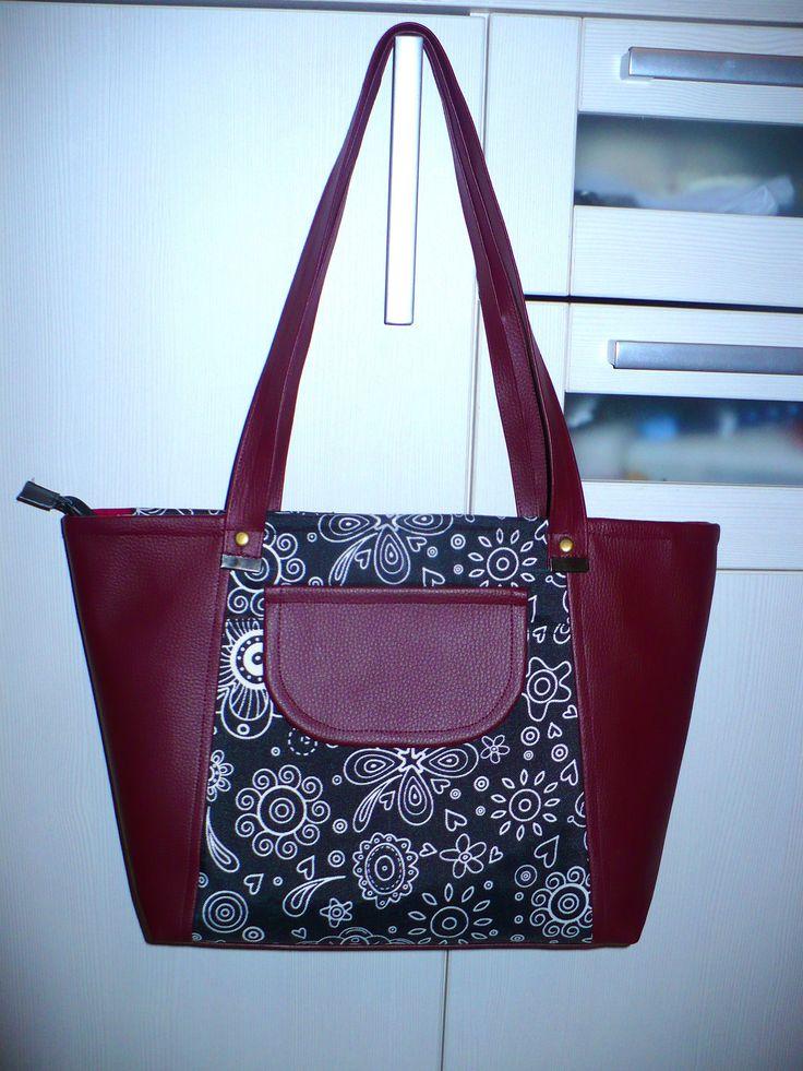 Large handbag - black&red