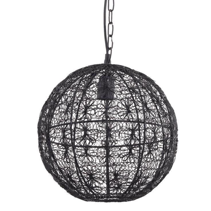 Hanglamp Arc Steel gewoven zwart staaldraad