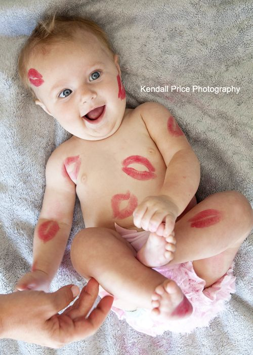 Mommy kisses Baby Photography