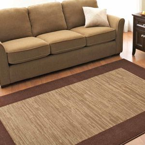 Better Homes and Gardens Frame Border Olefin Rug Brown For the