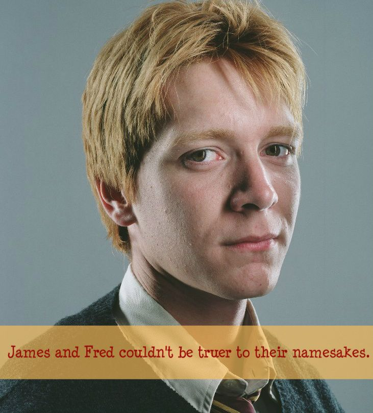 This confused me for a sec because James Phelps plays Fred but then I realised they meant the next generation