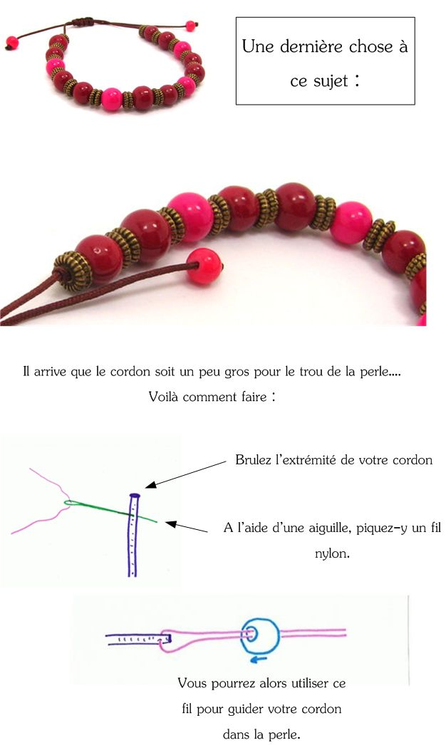 Bracelet en perle a faire soi meme