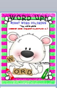 Word Up! Sight Word Coloring is a packet of 14 coloring printables for grades K-2.  This supports reading programs and the Common Core standards.  These worksheets can be used for word work, centers, and seatwork.  They can be used to provide recognition and reinforcement practice of the sight words.