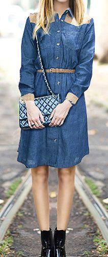 Summer Denim Dress.  dresslily.com