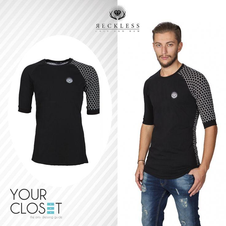 #Αντρικά T-shirts: Οι πιο ωραίες και οικονομικές #προτάσεις της αγοράς μόνο στο #YourCloset! T-shirt με print μανίκι & πλάτη-Reckless #fashionlover #eshop #fashionblogger #fashionista #fashionstyle #fashionaddict #fashionlover #comment #follow #fashion #followers #style #tshirt #reckless #fashionblog #lookoftheday #new #newcollection #menswear #men