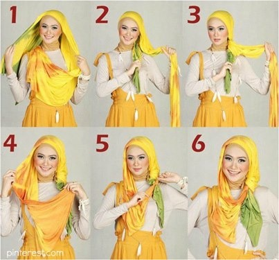 "How To Tie (or do) A ""Hijab."" Personally I Have Nothing Against It. Effectively It's Just A Scarf!! And Generally Gorgeous Funky Designed Ones Too!!"