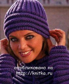 Фиолетовая шапочка, Вязание для женщин