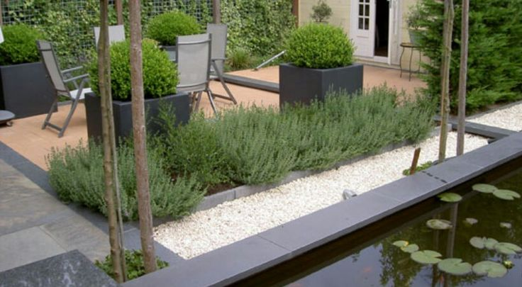 Strakke mediterrane tuin tuin pinterest tuin for Tuin modern design