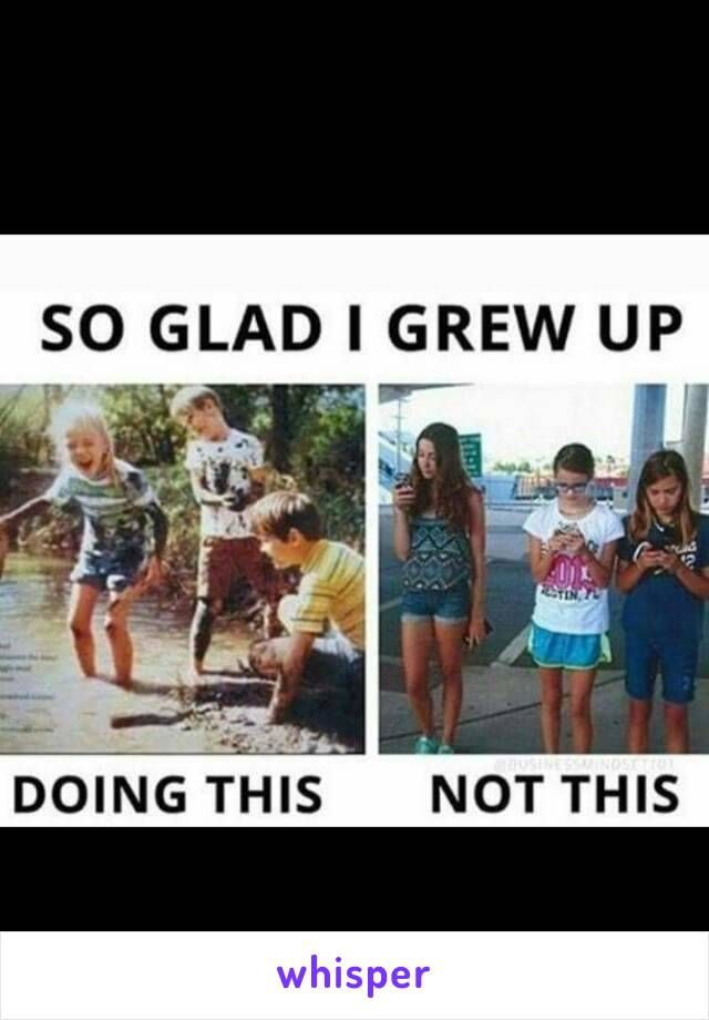So many memories of playing in the mud with my cousin and having to be sprayed off by my mom using the water hose.
