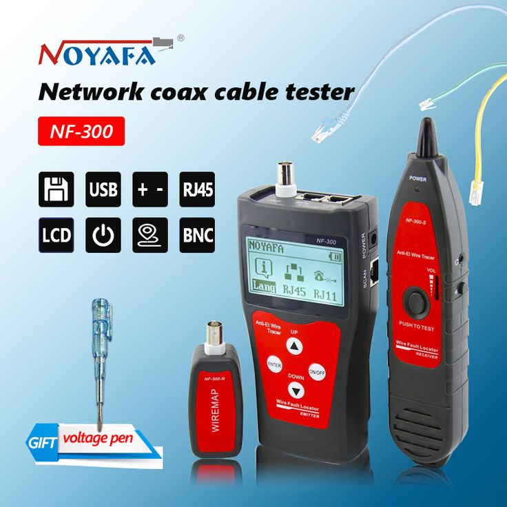 Buy Original Lan tester RJ45 LCD cable tester Network monitoring wire tracker without noise interference NOFAYA NF-300.. #huawei #wireless #wifi #lte #adafter #snapdragon bluetooth