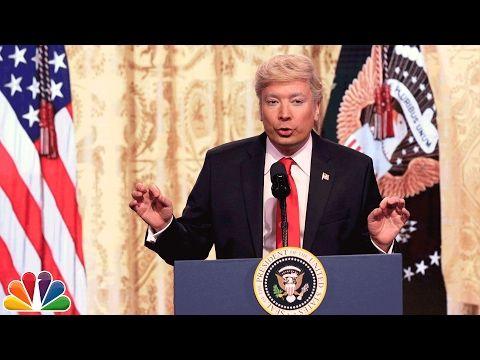 Watch Fallon Mock Trump's Press Conference [VIDEO]   Variety