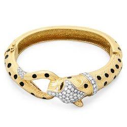 0.90cts Diamond Leopard Bangle