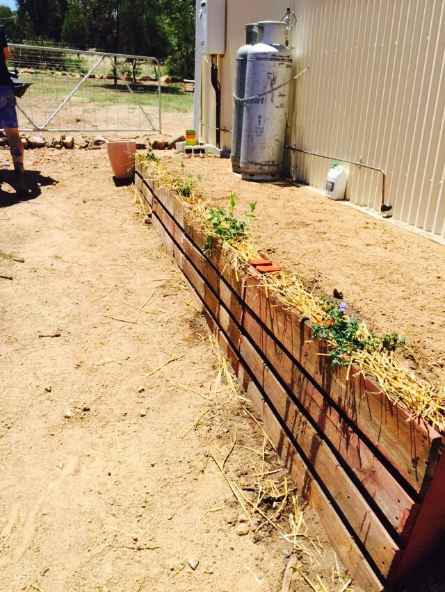 Pallet retaining wall sit | Cheap landscaping ideas ...