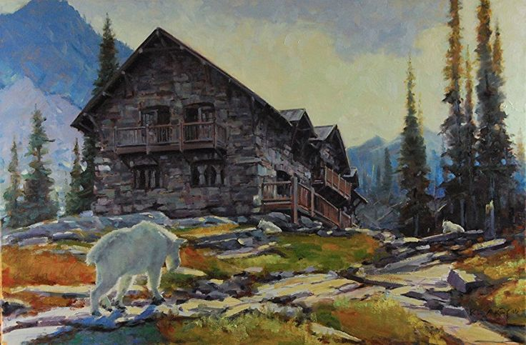 At Sperry Chalet by Rob Akey Oil ~ 20 x 30