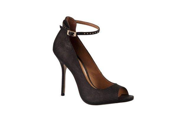 Zapato negro taco alto correa tobillera primavera verano 2013 2014