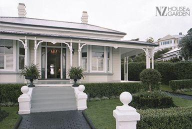 Houses & Gardens Article: Lovely Bones - Devonport Villa - NZ House & Garden  Chic, structured, masculine, formal, prestigious