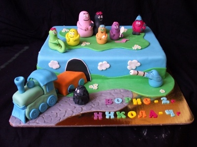 Barbapapa children birthday cake