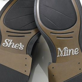 She's Mine Shoe Stickers