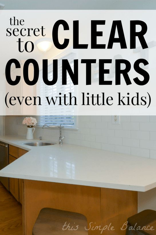 clearing kitchen counters, how to clear kitchen counters faster