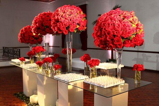 decoraç u00e3o de casamento vermelho, mariée produç u00e3o de eventos Decoraç u00e3o vermelha Pinterest