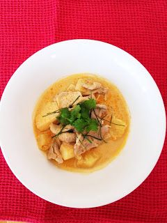 Red Curry of Pork with Pineapple and Ginger - what caroline cooked