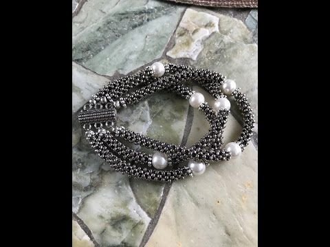 Cubic Right Angle Weave Moonlight Bracelet - YouTube