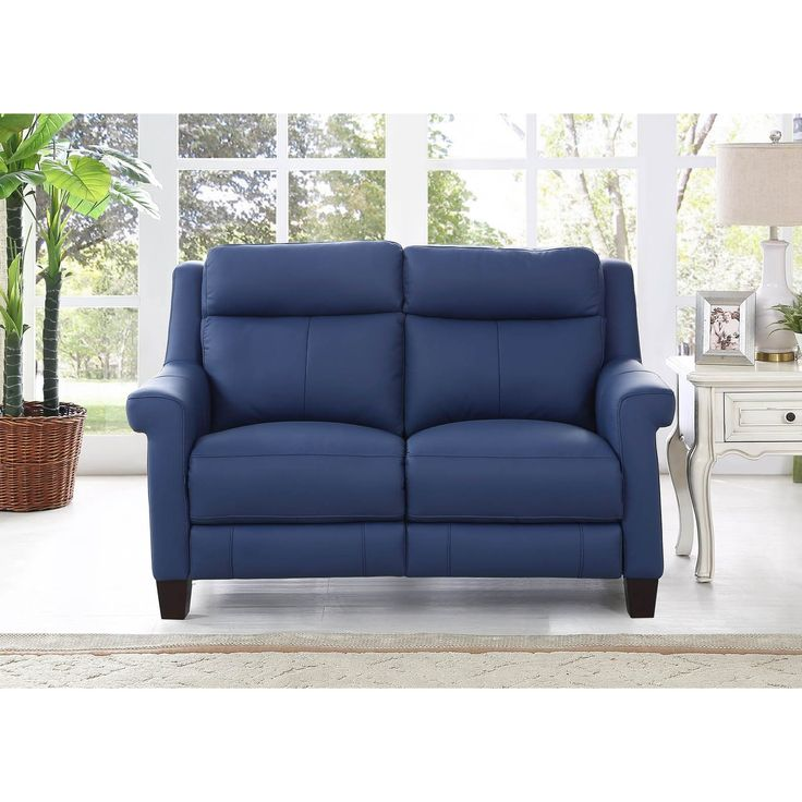 Hydeline by Amax Dolce Top Grain Power Reclining Loveseat Sofa