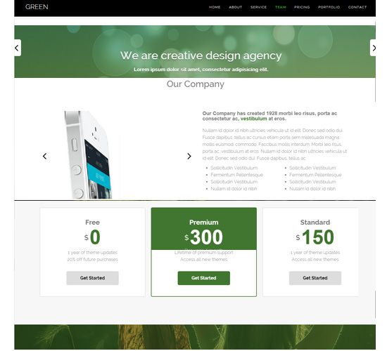 one page responsive free templates download all is one