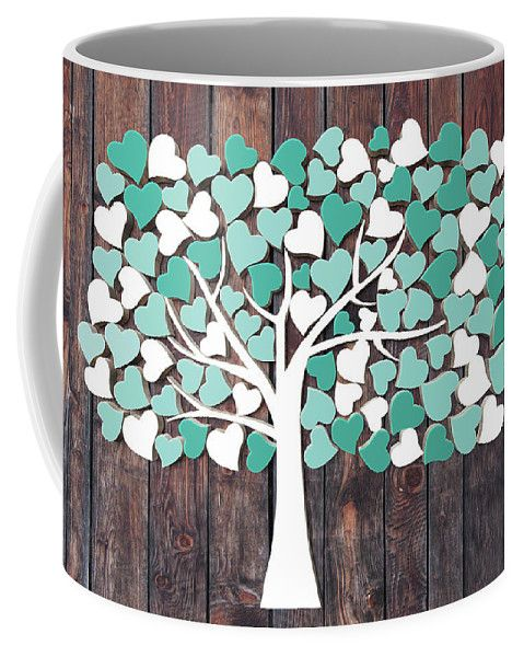 Wedding Tree Guest Book - Hochzeitsbaum 2. Coffee Mug by CristalPainting.  Small (11 oz.) We have fingerprint trees and fingerprint guest books to suit all occasions. Our designs can be customised with your personal details to create beautiful keepsakes of your special day. #wedding #weddinginspiration #weddinggift #weddingtree #weddingcollection