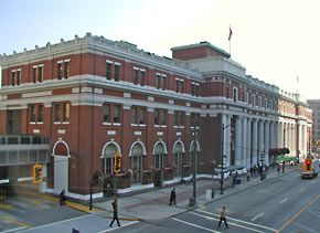 Waterfront Station (formerly the CPR Station) opened officially in 1914.