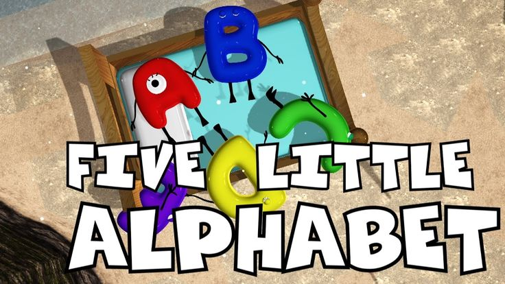 Five Little Alphabets | Nursery Rhymes for Kids | Baby Songs | Children ...