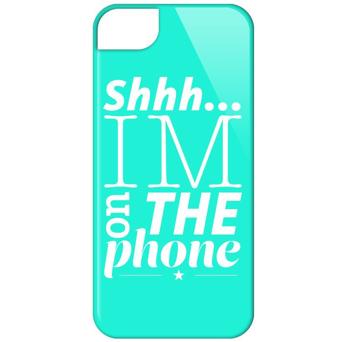 """""""shhh...I'm on the phone"""" phone cover"""