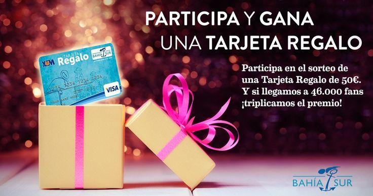 Participa y gana una tarjeta regalo! Si llegamos a 46.000 fans en Facebook antes del 31 Diciembre, triplicamos el importe del premio!