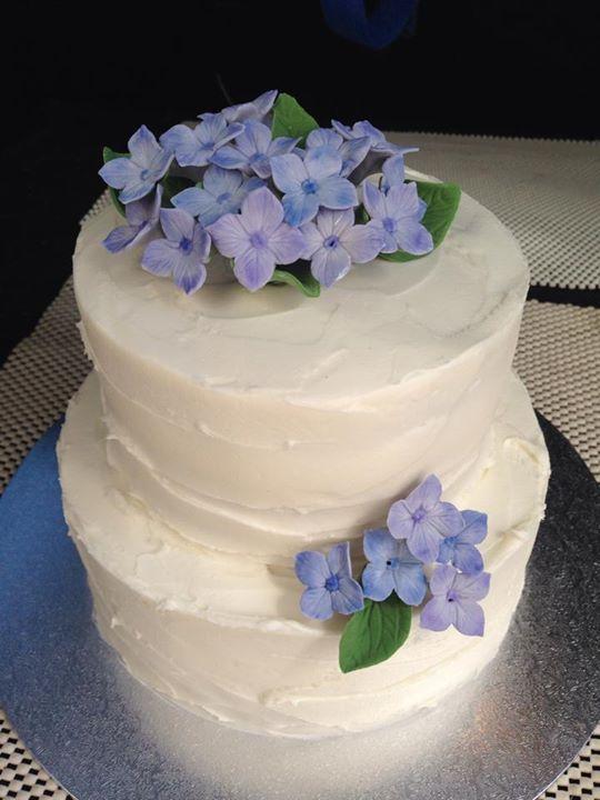 Hydrangea Blossom Wedding Cake