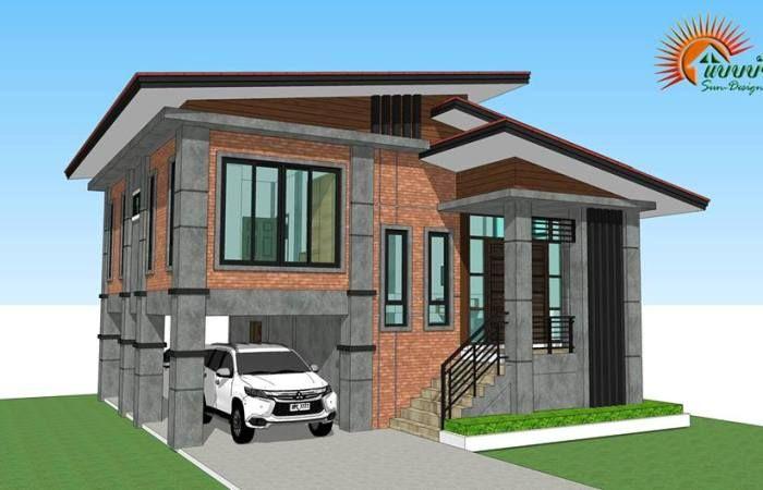 Modern Loft Style 3 Bedroom Multi Storey House Plan Ulric Home Loft Style Homes Modern Zen House Model House Plan