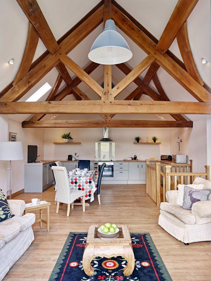 Tynrhyd Retreat – Commercial contemporary barn complex | Welsh Oak Frame #truss #retreat #purlin #wood #oak #wooden #home #barn