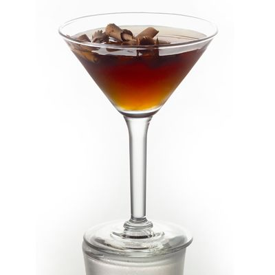 German Chocolate Martini-  All the traditional flavors of a German chocolate cake are present in this sweet treat of a martini — Godiva chocolate liqueur, coconut rum, and black cherry vodka.